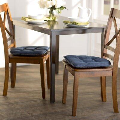 Wayfair Basics Gripped Chair Cushion Set Color: Indigo