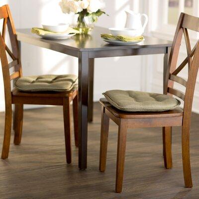 Wayfair Basics Gripped Chair Cushion Set Color: Sage