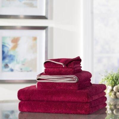 Wayfair Basics 6-Piece Quick Dry Towel Set Color: Cranberry Red