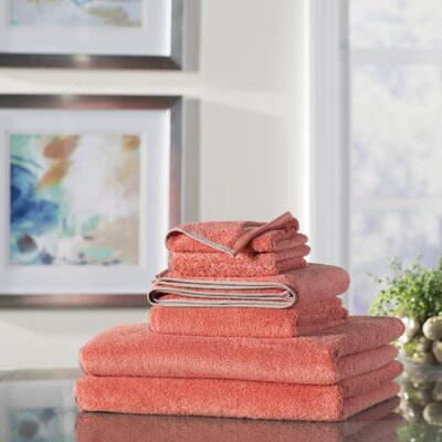 Wayfair Basics 6 Piece Quick Dry Towel Set Color: Coral
