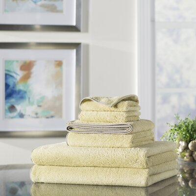 Wayfair Basics 6 Piece Quick Dry Towel Set Color: Shadow Green