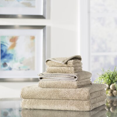 Wayfair Basics 6-Piece Quick Dry Towel Set Color: Tan