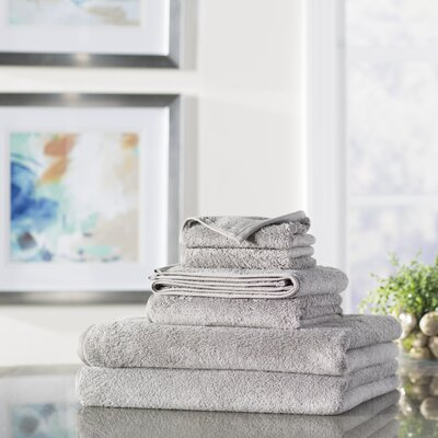 Wayfair Basics 6-Piece Quick Dry Towel Set Color: Gray