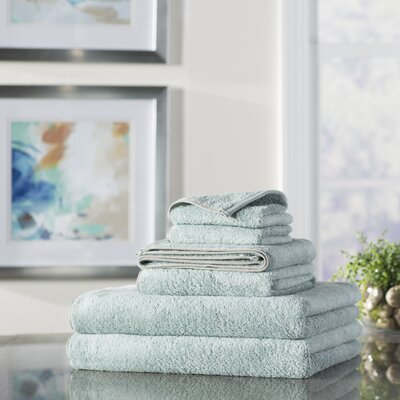 Wayfair Basics 6 Piece Quick Dry Towel Set Color: Powder Blue