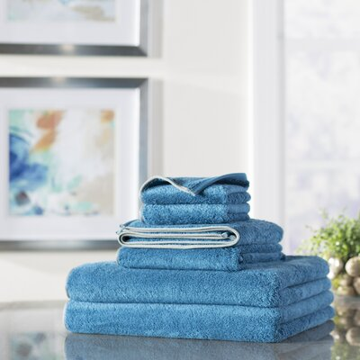Wayfair Basics 6 Piece Quick Dry Towel Set Color: Carolina Blue