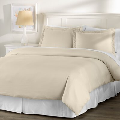 Wayfair Basics 3 Piece Hypoallergenic Down Alternative Duvet Cover Set Size: Twin, Color: Taupe
