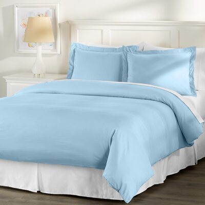 Wayfair Basics 3 Piece Hypoallergenic Down Alternative Duvet Cover Set Size: King, Color: Light Blue