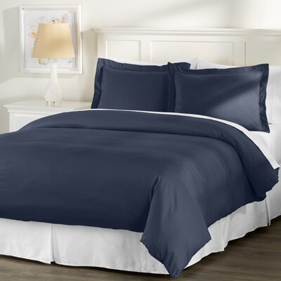 Wayfair Basics 3 Piece Hypoallergenic Down Alternative Duvet Cover Set Size: King, Color: Navy