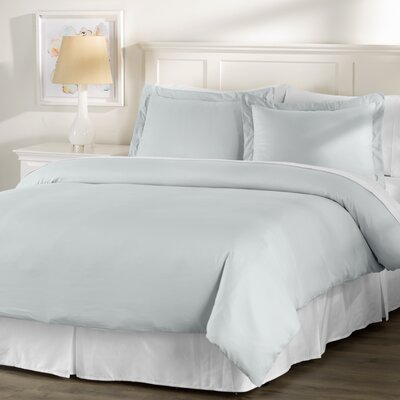 Wayfair Basics 3 Piece Hypoallergenic Down Alternative Duvet Cover Set Size: King, Color: Grey