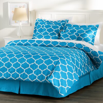 Wayfair Basics Comforter Set Size: Twin, Color: Blue / White