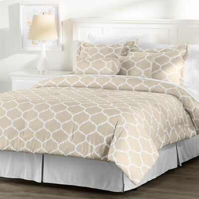 Wayfair Basics Comforter Set Size: Twin, Color: Taupe / White