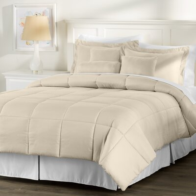 Wayfair Basics 7 Piece Comforter Set Size: Twin, Color: Taupe