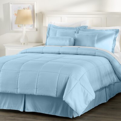 Wayfair Basics 7 Piece Comforter Set Size: Twin, Color: Light Blue