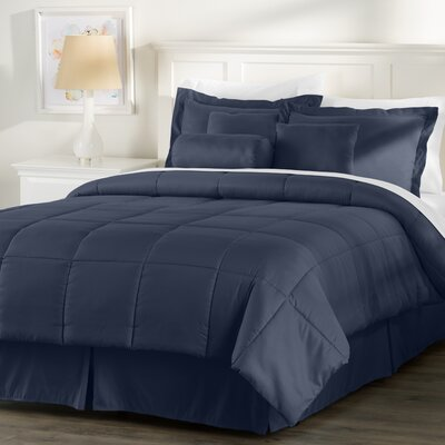 Wayfair Basics 7-Piece Comforter Set Size: King, Color: Navy