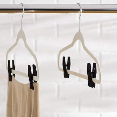 AllModern Essentials Velvet Hanger Clip Set