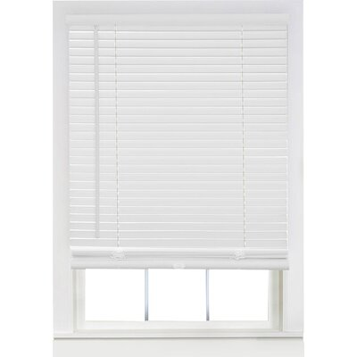 Semi-Sheer Venetian Blind Color: Pearl White, Size:  35 W x 64 L