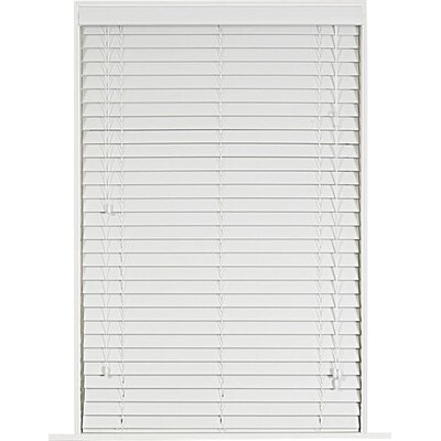 Wayfair Basics Faux Wood Venetian Blind Color: White, Size: 27 W x 64 L