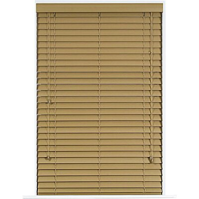 Wayfair Basics Faux Wood Venetian Blind Size: 30 W x 64 L, Color: Maple