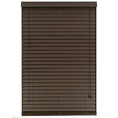 Wayfair Basics Blackout Venetian Blind Size: 38.5 W x 64 L, Color: Mahogany