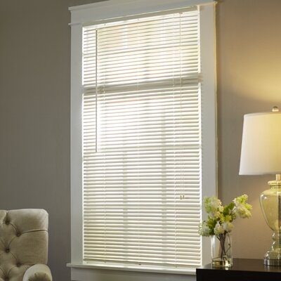Wayfair Basics Semi-Sheer Venetian Blind Size: 33.5 W x 64 L, Color: Alabaster