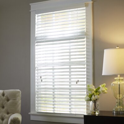 Wayfair Basics Blackout Venetian Blind Size: 29.5 W x 64 L, Color: White