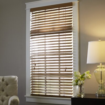 Wayfair Basics Blackout Venetian Blind Size: 28.5 W x 64 L, Color: Maple