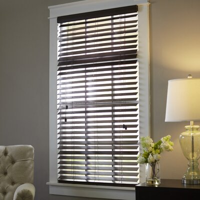 Wayfair Basics Blackout Venetian Blind Size: 31.5 W x 64 L, Color: Mahogany