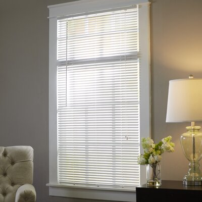 Semi-Sheer Venetian Blind Color: White, Size: 34.5 W x 64 L
