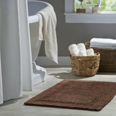 Wayfair Basics Reversible Bath Rug Size: 17 x 24, Color: Brown