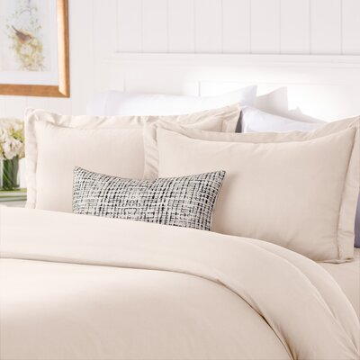 Wayfair Basics Duvet Set Color: Cream, Size: Full / Queen