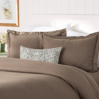 Wayfair Basics 3 Piece Duvet Cover Set Size: King / California King, Color: Taupe