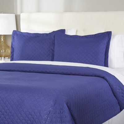 Wayfair Basics Quilt Set Size: Full/Queen, Color: Navy