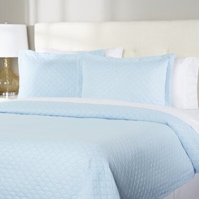 Wayfair Basics Quilt Set Size: Full/Queen, Color: Light Blue