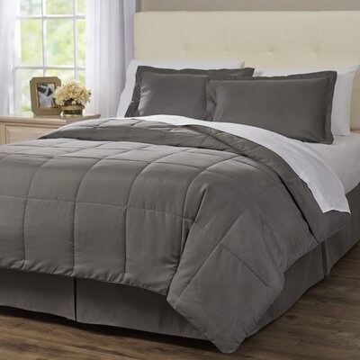 Wayfair Basics 8 Piece Bed-In-a-Bag Set Color: Gray, Size: Full