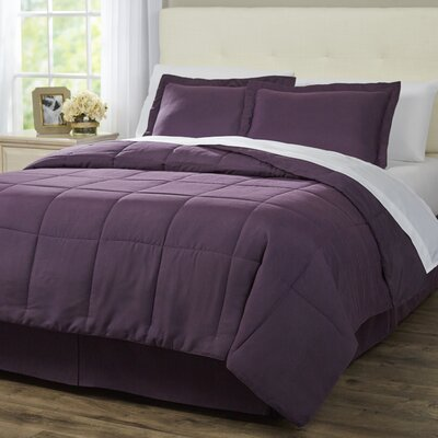 Wayfair Basics 8 Piece Bed-In-a-Bag Set Color: Purple, Size: Full