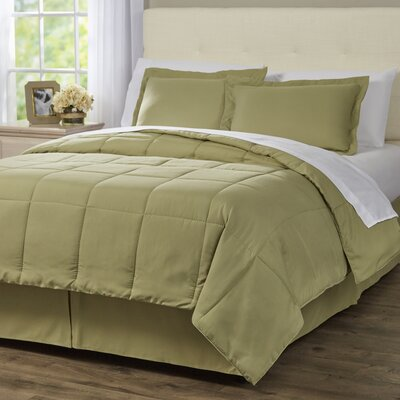Wayfair Basics 8 Piece Bed-In-a-Bag Set Color: Sage, Size: Twin