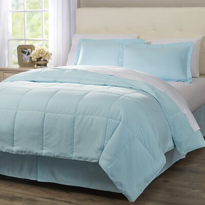 Wayfair Basics 8 Piece Bed in a Bag Set Color: Aqua, Size: Queen