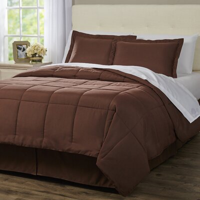 Wayfair Basics 8 Piece Bed-In-a-Bag Set Color: Chocolate, Size: Twin