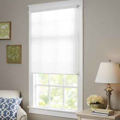 Wayfair Basics Top-Down Bottom-Up Cordless Honeycomb Cellular Shade Size: 23 W x 64 L, Color: White