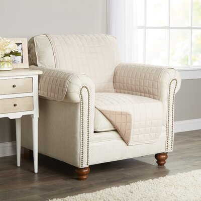 Wayfair Basics Box Cushion Armchair Slipcover Color: Beige