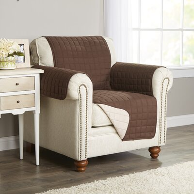 Wayfair Basics Armchair Slipcover Color: Brown