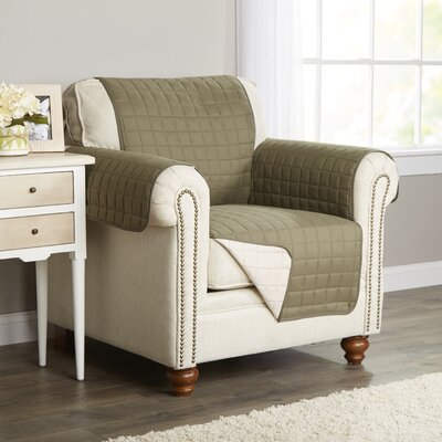 Wayfair Basics Box Cushion Armchair Slipcover Color: Green
