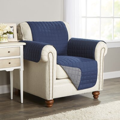 Wayfair Basics Armchair Slipcover Color: Navy