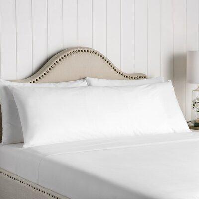 Wayfair Basics Cotton Body Pillow Cover Color: White