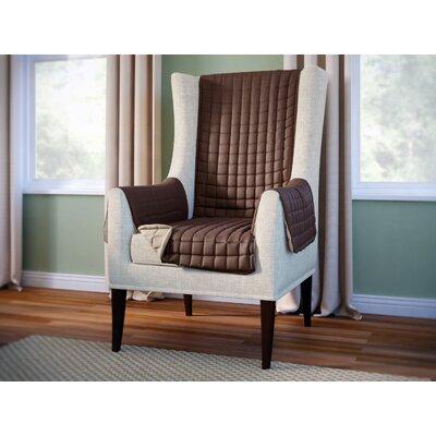 Wayfair Basics Box Cushion Wingback Slipcover Color: Brown