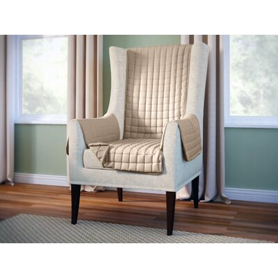 Wayfair Basics Wingback Armchair Slipcover Color: Beige
