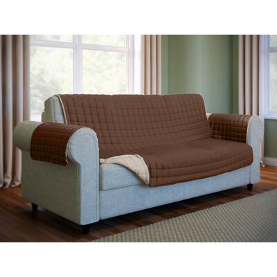 Wayfair Basics Box Cushion Sofa Slipcover Color: Brown