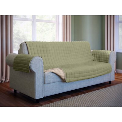 Wayfair Basics Microfiber Sofa Slipcover Color: Green