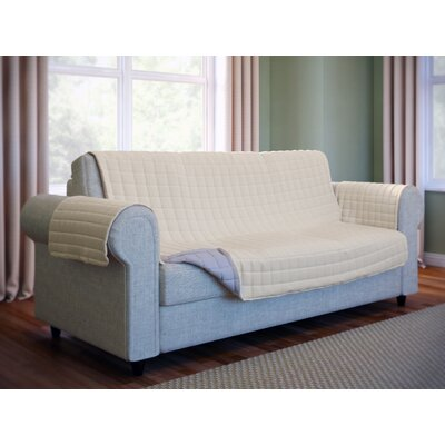Wayfair Basics Box Cushion Sofa Slipcover Color: Beige