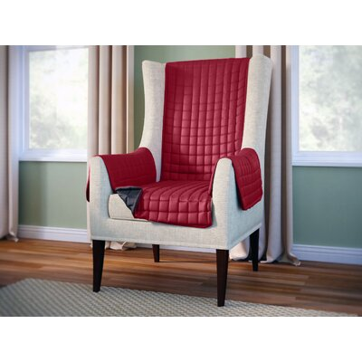 Wayfair Basics Box Cushion Wingback Slipcover Color: Burgundy